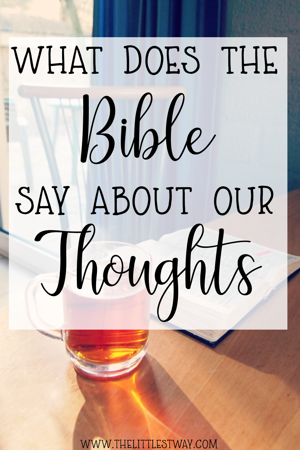 The Bible has more than you might think to guide us in our thoughts.