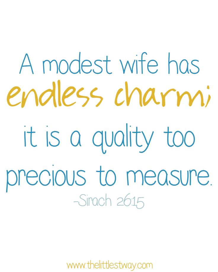 A Good Wife: A Modest Wife based on Sirach 26:15