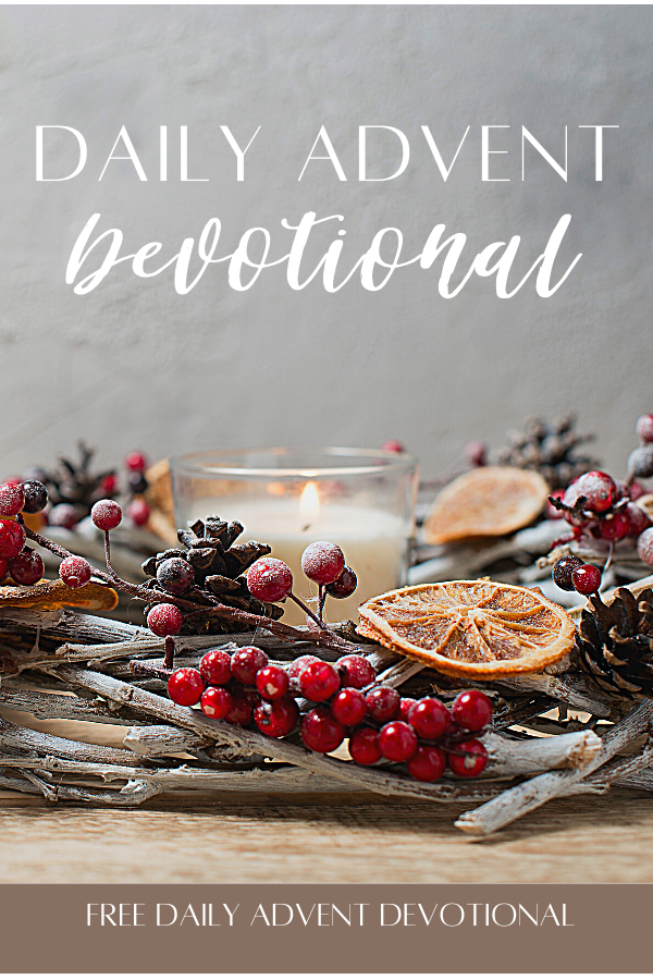 Nature inspired Advent wreath to celebrate advent with a free advent devotional for women.