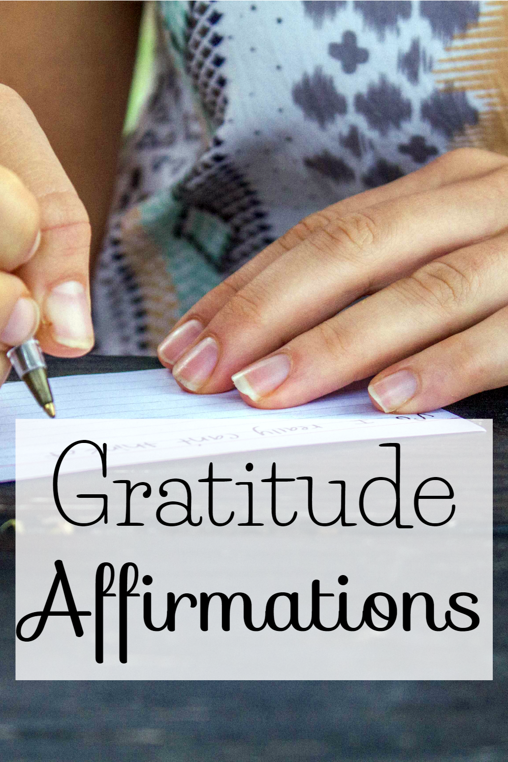 Daily Gratitude Affirmations at The Littlest Way