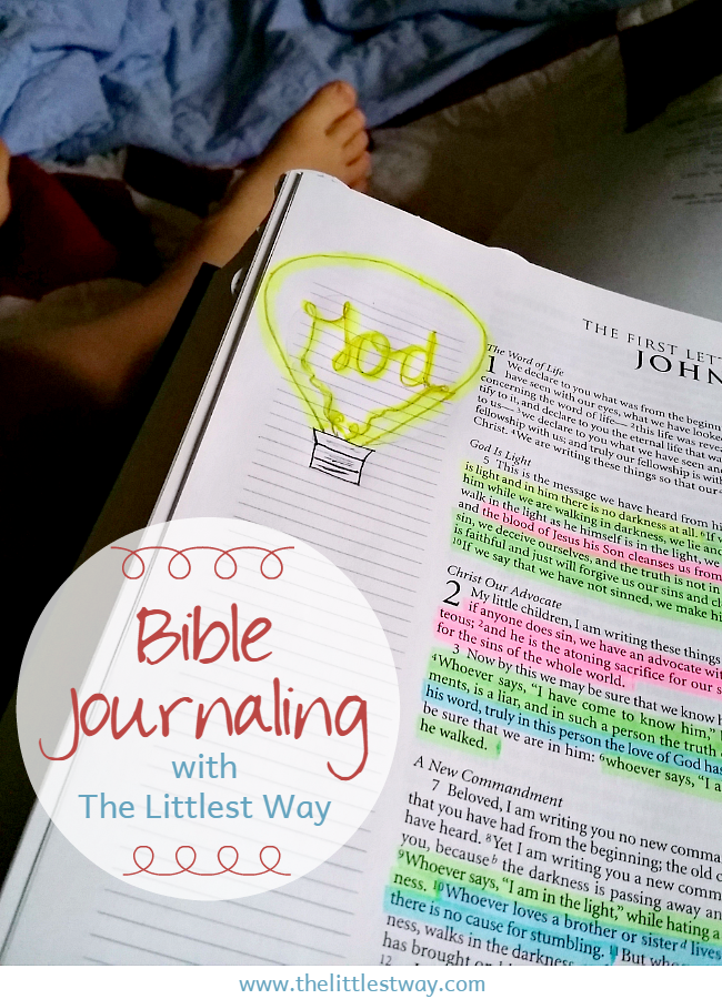 Bible Journaling with The Littlest Way