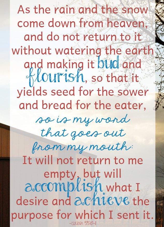 Scripture about rain