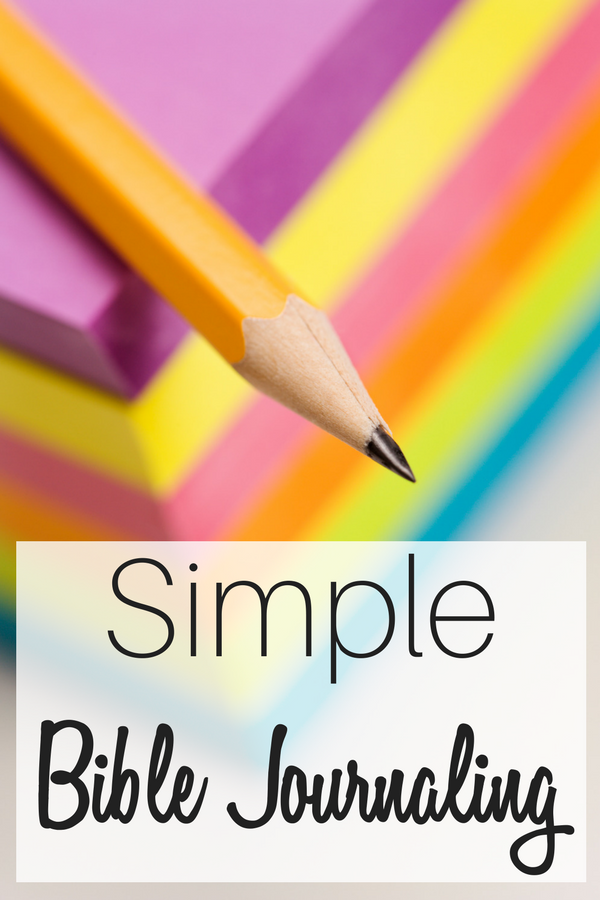 Using colored post-it notes and pencils for simple Bible journaling