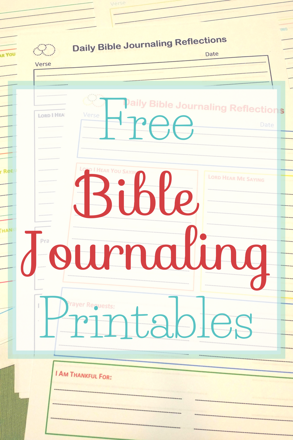 Free Bible Journaling Printables in four color schemes