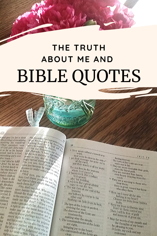 An open Bible to share Bible quotes.