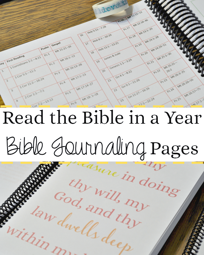 Bible Journaling Pages