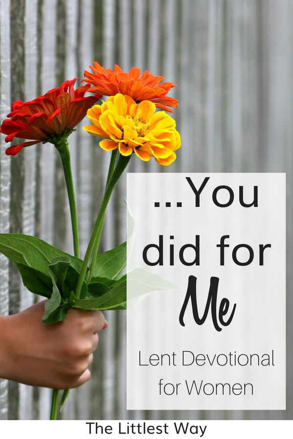 A bouquet of flowers handed to someone to remind that when we do for others, we do for Jesus.