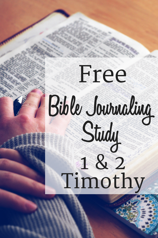 A free printable download for Bible journaling, studying, or verse mapping the Books of Timothy.