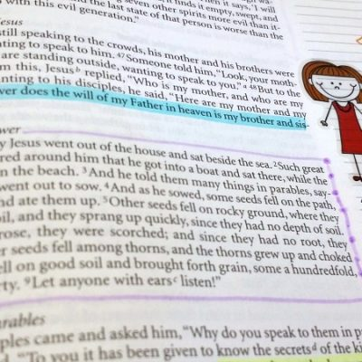 Bible Journaling: Examples from Here and There