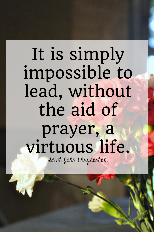 saints quotes on prayer