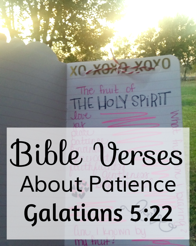 Bible Quotes About Patience: Galatians 5:22, The Fruits of the Holy Spirit