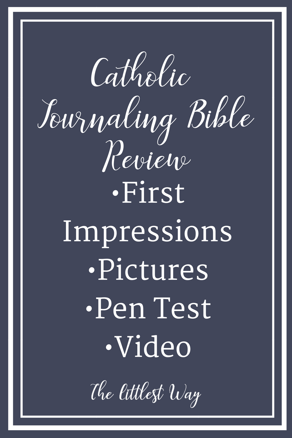 A review of the new Catholic Journaling Bible with pictures and flip through video.
