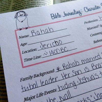 Bible Journaling Printables: Character Sketch