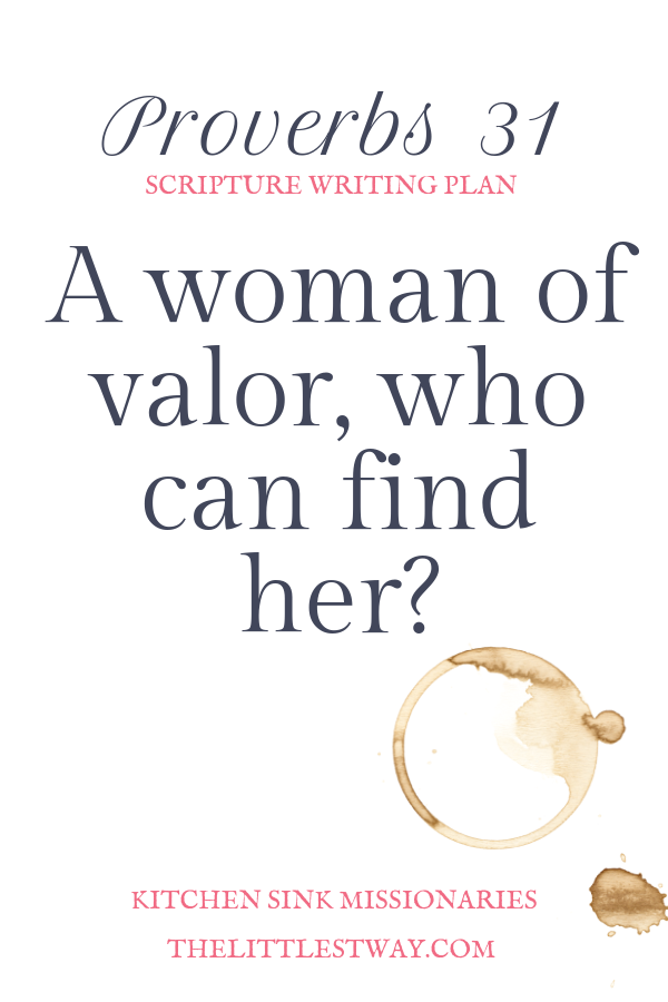 Proverbs 31 introduction for the Online Bible Study Community