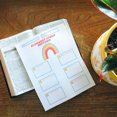 Bible Study Journal Template: Alphabet Method