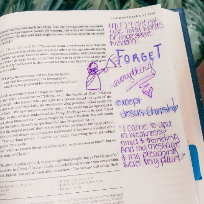 Catholic Bible Journaling: My Message is Very Plain