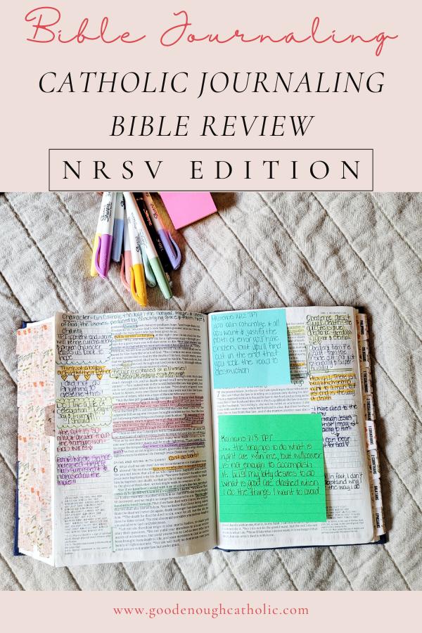 NRSV Catholic Journaling Bible with Bible Journaling Supplies